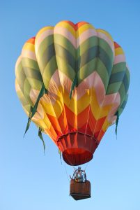 One of 10 beautiful balloons that took flight last Saturday morning, signaling the start of the 41st annual ClovisFest celebration.