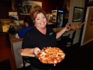 Photo by Ron Sundquist Clovis Pizza Junction Manager Jaime Sinor.