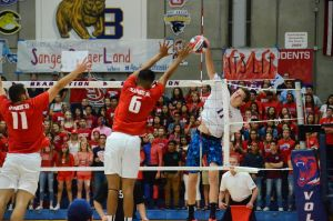 Photo by Nick Baker Buchanan senior Logan Riding kills it against Sanger in the Valley title game on May 19. The Bears reached as high as No. 4 in the nation on the season.