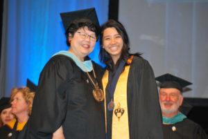 Deborah Ikeda with president's award recipient Julieanne Nguyen.