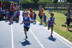 Students from Garfield Elementary School compete in a friendly race and relay.