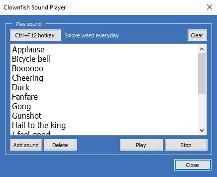 Soundplay dialog