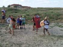 Lupta intre gladiatori in forumul de la Cetatea Histria