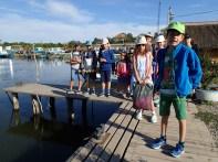 La Jurilovca pentru a lua vaporul spre Gura Portitei