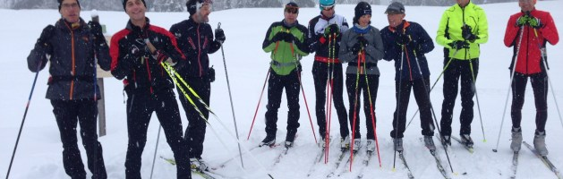 Les Cyclos du CTS font du ski