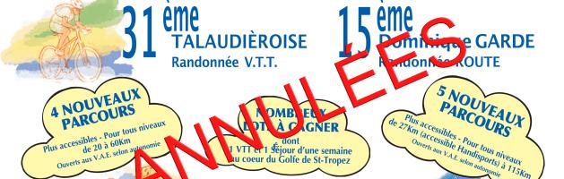 Info : 31ème Talaudiéroise, et 15ème Dominique Garde, du 30 Mai 2020