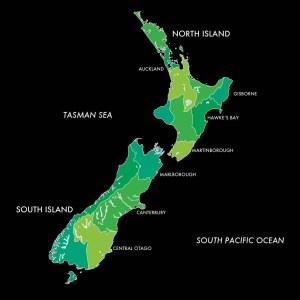 vino neozelandese isole nord sud
