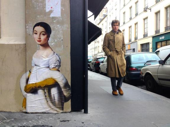 Une oeuvre du projet Outings à Paris