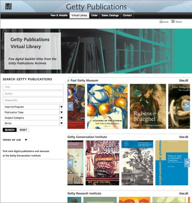 Getty virtual library_screencap