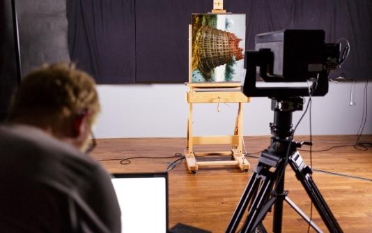 Numérisation d'une oeuvre du Museum Boijman avec l'Art Camera (c) Fred Ernst by Museum Boijman