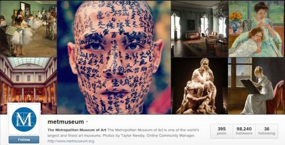 Met museum instagram
