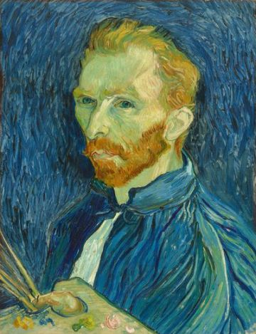 Autoportrait par Vincent van Gogh, 1889. (Collection Gallery of Art, Washington)