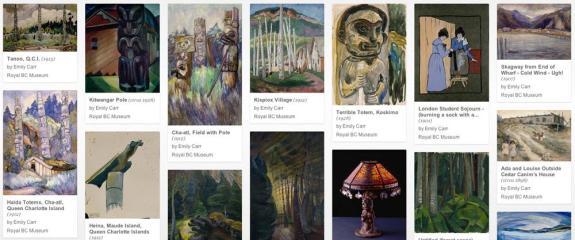 Page Google Art Project du Royal BC Museum