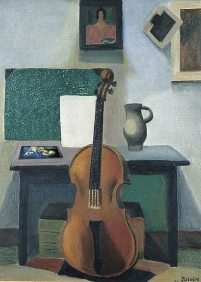 Nature morte au violoncelle, Roger Bissière © Musée des Beaux-Arts d'Agen