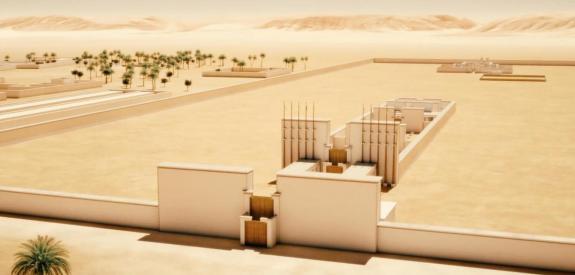Amarna, la cité disparue d'Akhenaton reconstituée en 3D (c) Archeovision