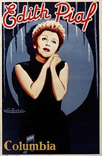 Affiche de Gaston Girbal, Édith Piaf pour la maison de disques Columbia, 1951 Droits Réservés | BnF, Estampes et photographie