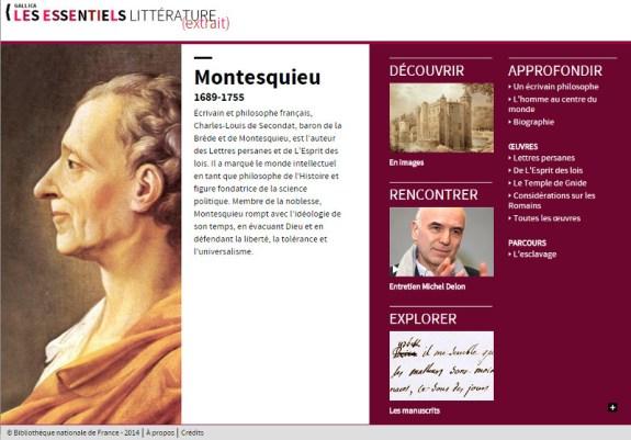 bnf site montesquieu