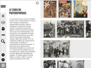 centre pompidou expo cartier bresson appli ipad 2
