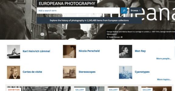 europeana photography-landing-page