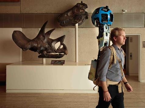 Les équipes de Google Street View au Queensland Museum (c) Google