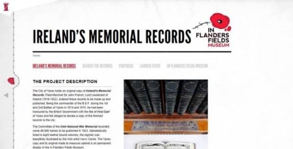 in flanders fields website Irish-War-Dead-Archive-624x320