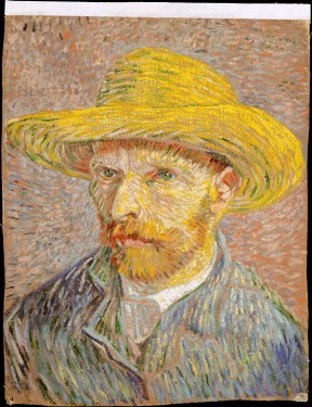 Vincent van Gogh, 1887, Self-Portrait with Straw Hat
