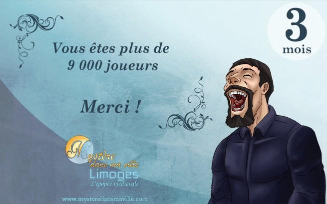 mystére dans ma ville - Limoges - 9000 joueurs
