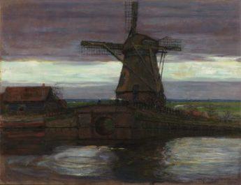 """""""Stammer Mill"""" de Piet Mondrian. Nelson Atkins Museum"""