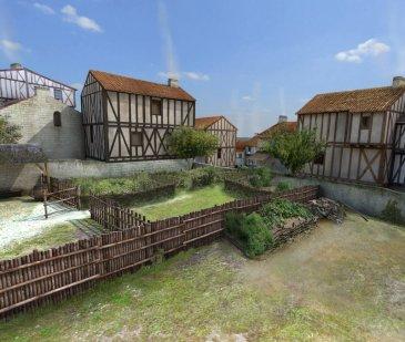 Reconstitution de Poitiers   au Moyen Age (c) AGP