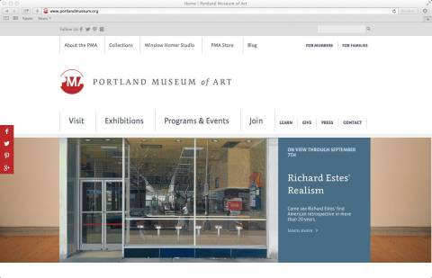 portland museum of art Website image