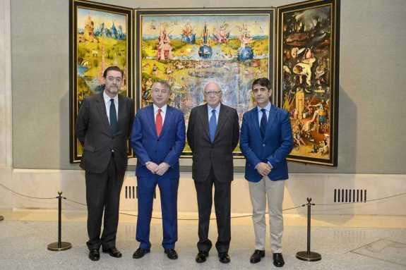 Les signataires de l'accord: de gauche à droite: Miguel Zugaza, Jose Antonio Sanchez, José Pedro Pérez-Llorca et Manuel Ventero  (c) RTVE