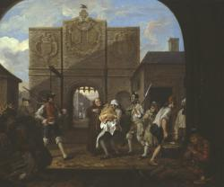 O the Roast Beef of Old England ('The Gate of Calais') 1748 by William Hogarth 1697-1764