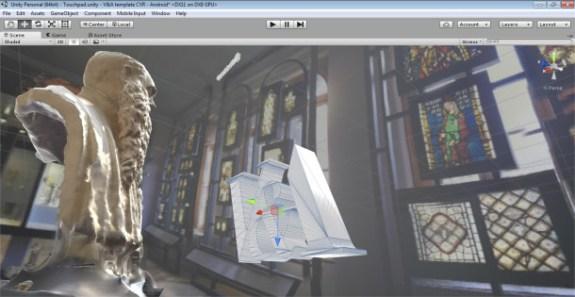 Expérience de modélisation 3D des objets de la collection du V&A et intégration dans un univers réalité virtuelle pendant l'atelier (c) V&A Museum