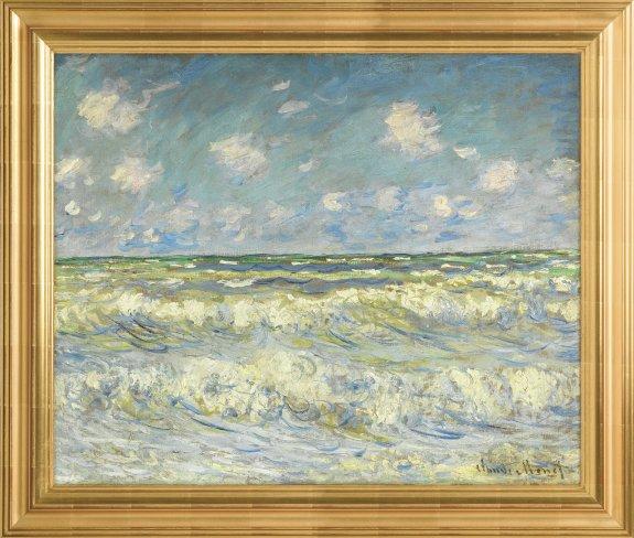 """Reproduction de """"La mer agitée"""" de Monet (c) Verus Art"""