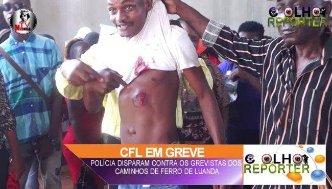 A investida da Polícia contra os trabalhadores do CFL - Albano Pedro