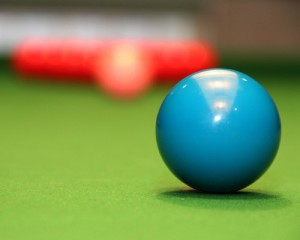 abstract shot of snooker table