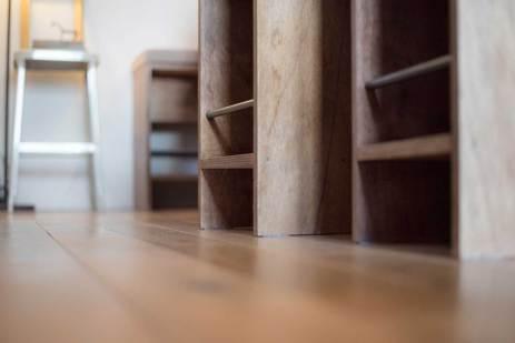 無垢の床 無垢フローリング 自然素材 リノベーション ヨークシャーテリア 犬
