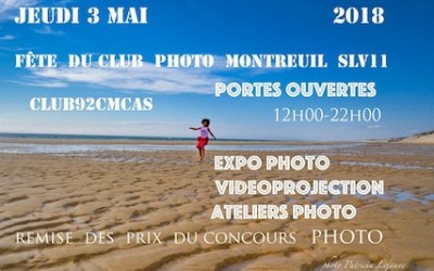 Fête du club photo le 3 mai 2018 à Montreuil
