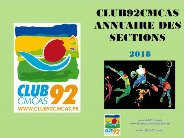 Club92Cmcas - Annuaire 2018