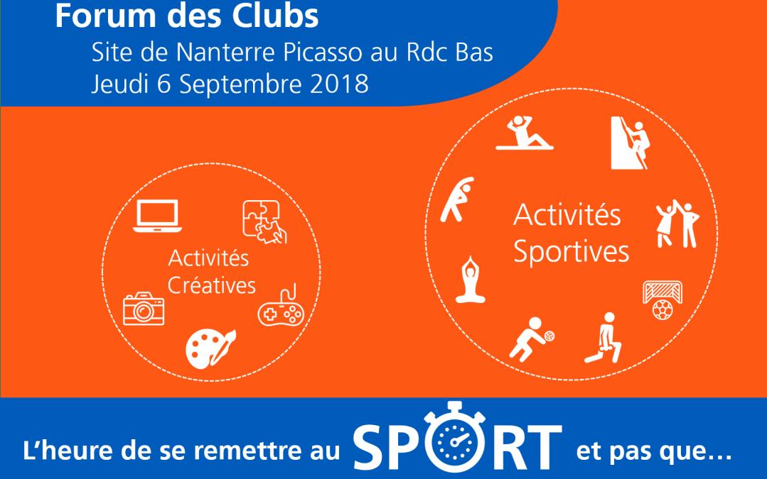 EDF Nanterre-Picasso – Forum des clubs – Jeudi 6 septembre 2018