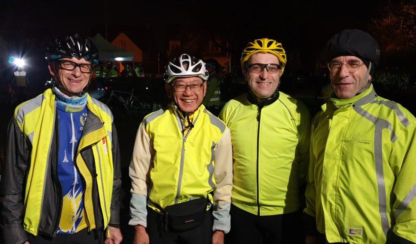 Nous sommes le 6 avril 2019, il est 4h du matin à Andrésy,  nos 4 cyclotouristes s'élancent !