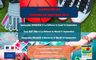 Forum 2019 des sections de l'association Club92Cmcas