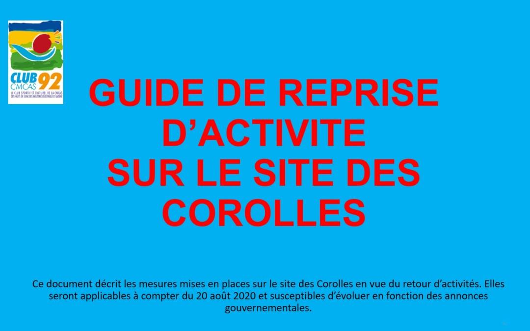 Les activités reprennent  – Version du protocole Covid-19 du site des Corolles La Défense