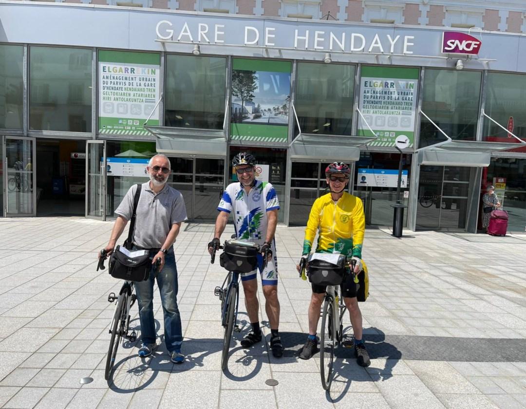 Gare d'Hendaye - Cyclo – Relais Hendaye Nantes 844 km et 4 000 m de dénivelé en juin 2021