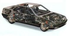 1990 alfa romeo 164 sedan cutaway by pininfarina f3q art