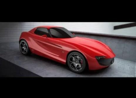 Alfa Romeo Giulia coupé concept car rendering 1