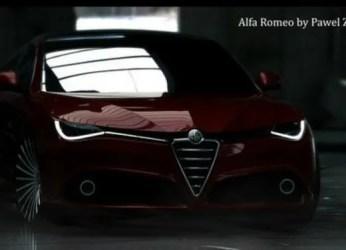 Alfa Romeo Giulia coupé concept car rendering 5