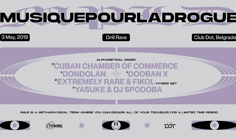 """Drill party """"Musique Pour La Drogue"""" u klubu DOT"""