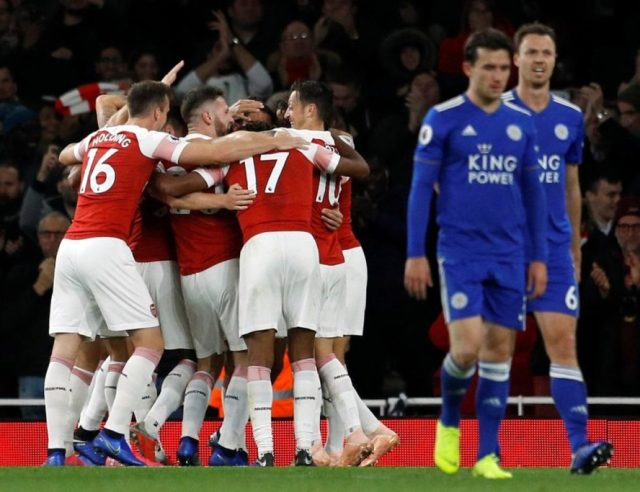 Image result for arsenal leicester