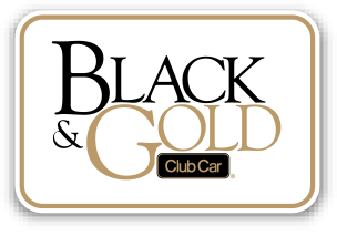 2014 Black Gold Button - Club Car Tempo